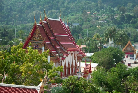 chalong: Buildings in the Buddhist temple - Wat Chalong. Thailand, Phuket.