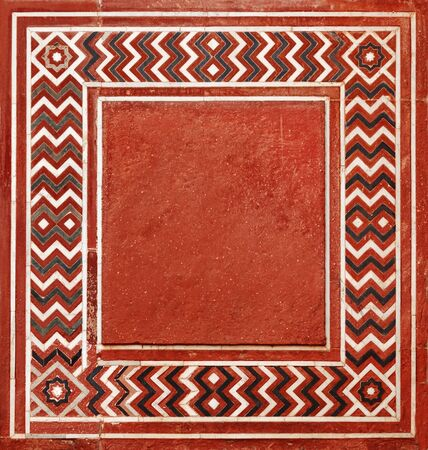 18th century style: Frame in the Indian style from natural stone. 18th Century Stock Photo