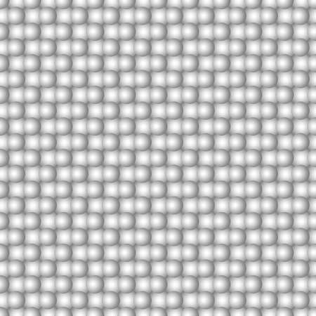 Abstract seamless pattern of spheres - vector background
