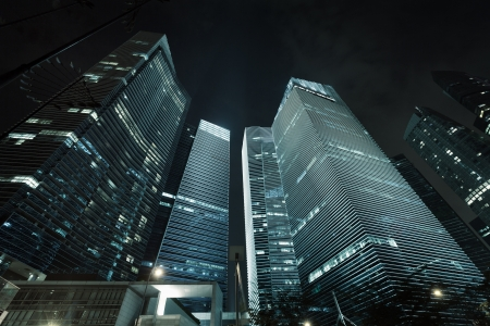 Office buildings - skyscrapers. View from bottom to top