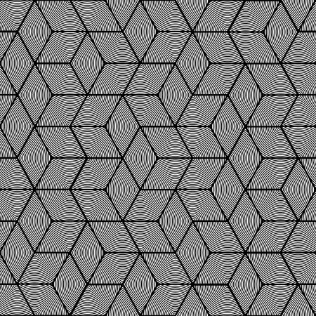 Geometric stripe pattern - seamless graphic cubes design Stock Vector - 17308104