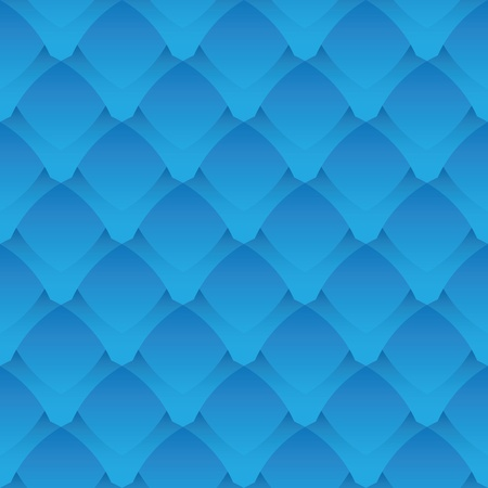 Geometric seamless pattern - a fantastic blue scales Vector