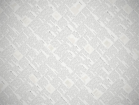 Fake newspaper with a non-existent language - vector background