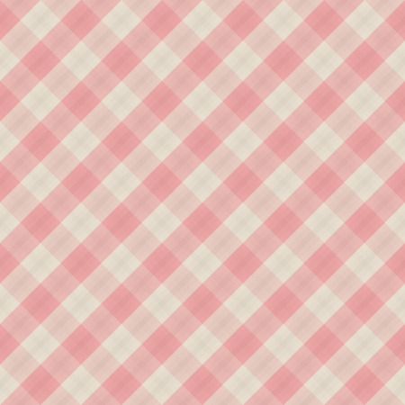 Fabric red and white pattern - vector seamless background Vector