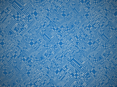 Circuit board blue vector abstract background Vector