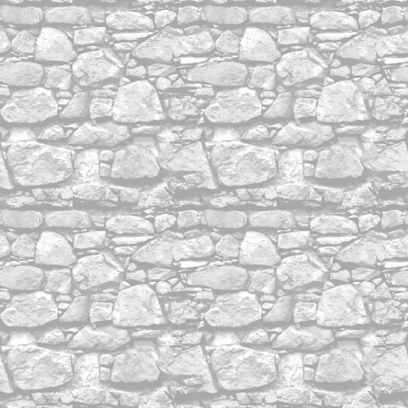 Stone wall - the seamless vector realistic texture Illustration