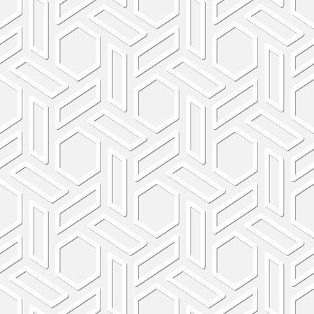 Hexagons in the vector seamless texture Vector