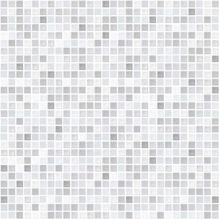 mosaic floor: Pattern from gray tiles - seamless vector background