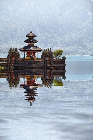 Pura Ulun Danu Bratan, Bali, Indonesia - Hindu temple complex on Bratan lake photo
