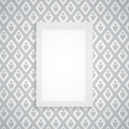 Simple blank frame on gray wallpaper - abstract vector Stock Vector - 17543701