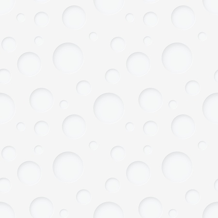 pastel shades: seamless pattern - round holes in white paper with shadows