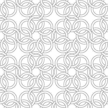 The simple vector seamless pattern - pattern like weaving chainmail Stock Vector - 17924386