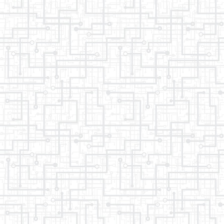 electronic scheme: Vector abstract seamless pattern - electronic circuit scheme. Light gray texture. Illustration
