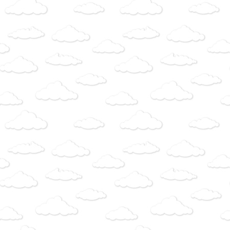 pastel shades: seamless pattern - clouds. Black and white background.