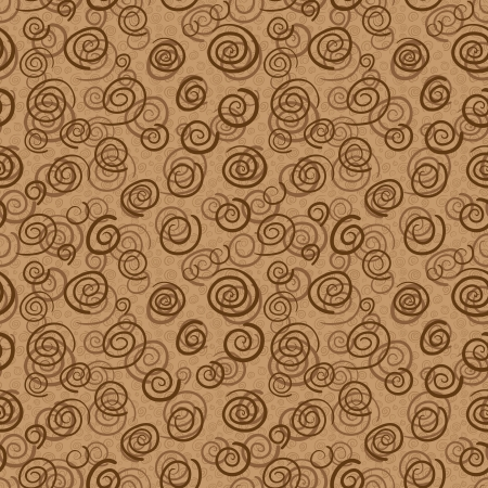 Vector abstract pattern in chocolate colors - seamless background Vector