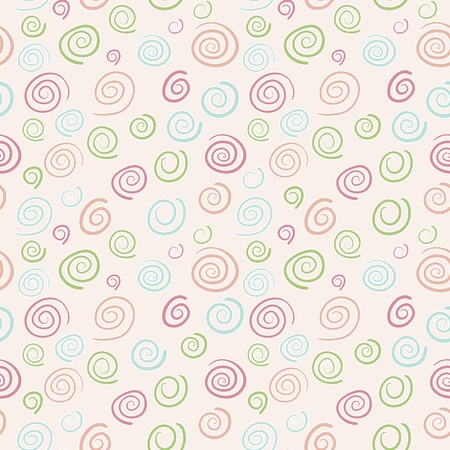 Abstract retro pattern - seamless color swirls Vector