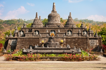 Buddhist temple of Banjar, North Bali, Indonesia  photo