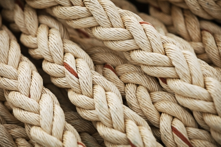 Big marine sea ropes in heap - the background  photo