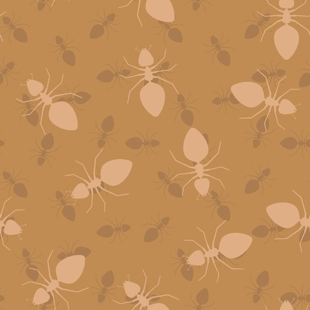 chaotical: Simple seamless vector texture - insects ants