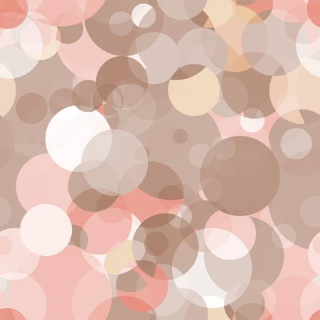 Simple seamless vector pattern - circles in different shades Vector