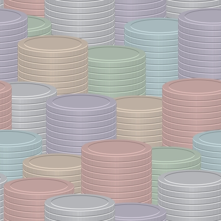 Abstract vector infographics background - stack of coins of different colors Vector