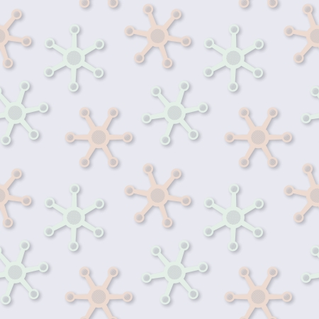 chaotical: Vector abstract seamless fantastic light pattern in pale colors Illustration