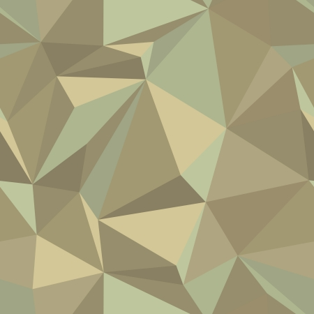 Seamless abstract vector pattern in vintage colors - repeating geometric triangle mosaic background Stock Vector - 18138801