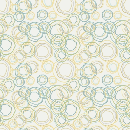 Vintage color curved circles pattern - the retro seamless background Vector