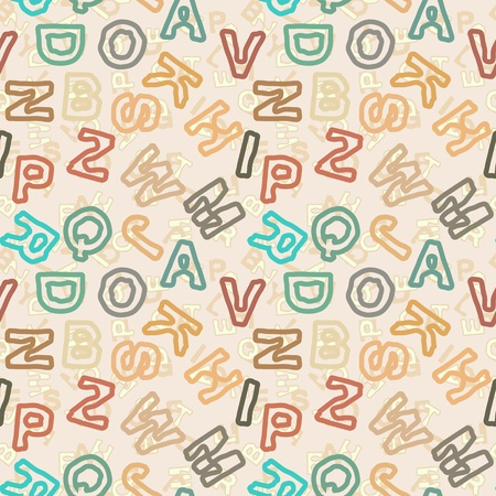 The letters in vintage style - vector pattern for educational school theme Stock Vector - 18138886