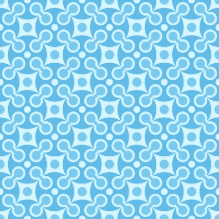 Simple vector blue seamless geometric square pattern Vector