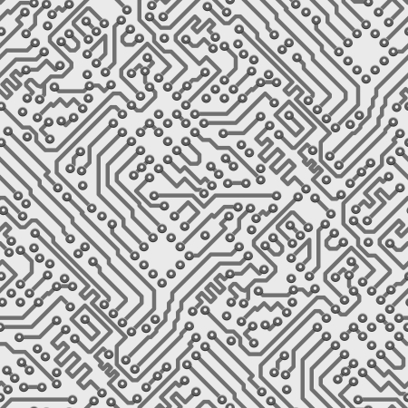 electronic board: Circuit board vector computer seamless background - electronic pattern