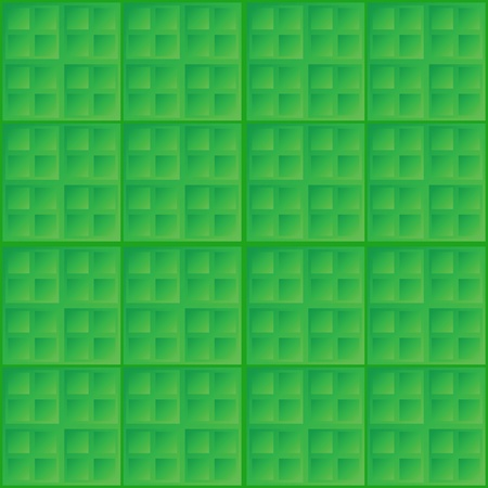 Vector abstract green seamless simple pattern - square tiles Stock Vector - 18873443