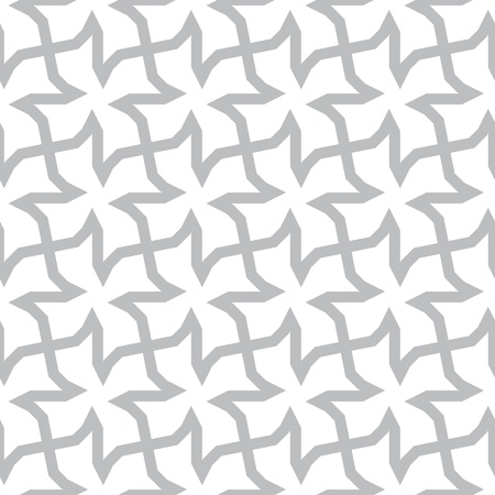 seamless geometric pattern - abstract silhouette gray modern repeating ornament Vector