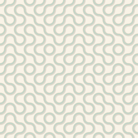 Vector seamless square pattern - wavy color lines Vector