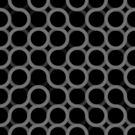 Seamless geometric dark pattern - grunge texture prototype for design