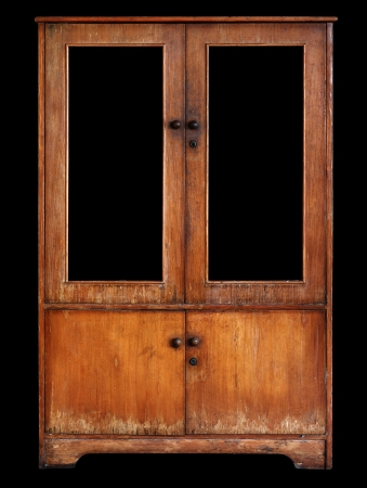 Old cupboard isolated on a black background Archivio Fotografico
