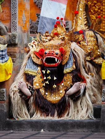 Costume for a traditional Balinese performance - Barong