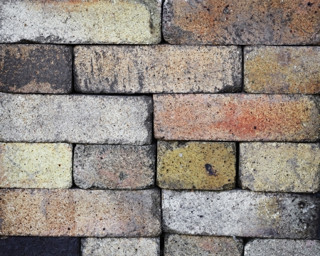 fireproof: Fireproof bricks stacked like wall - background Stock Photo