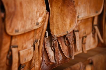 Leather goods - handbags in the open market