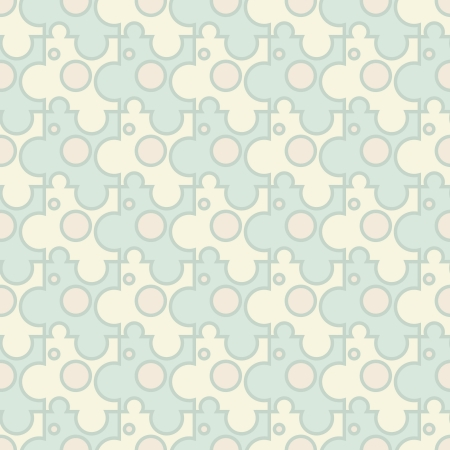 Vector abstract background - vintage seamless puzzle light pattern Stock Vector - 21179778