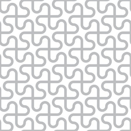 Vector abstract seamless pattern - curved gray lines on a white background  イラスト・ベクター素材