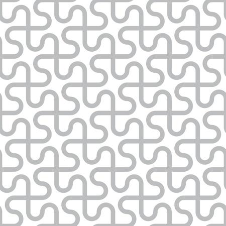 Vector abstract naadloos patroon - gebogen grijze lijnen op een witte achtergrond