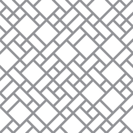grid pattern: Vector abstract floor background - seamless monochrome diagonal pattern Illustration