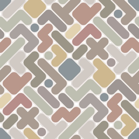 tetris: Vector abstract pattern - vintage seamless light color figured background