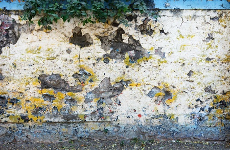 Old weathered concrete fence of the road - background Stock Photo - 21398851