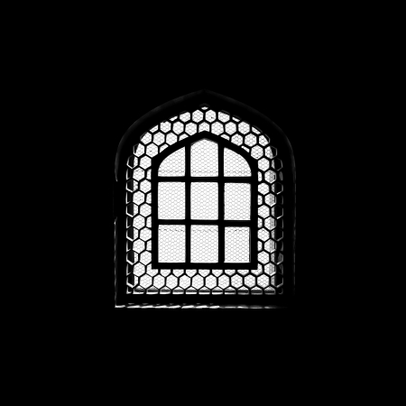 Silhouette of window in the muslim mosque photo