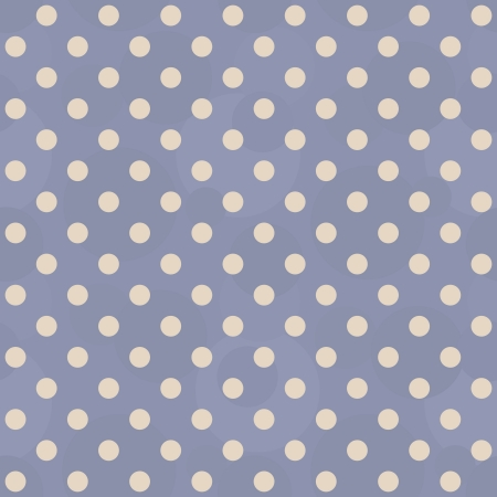 Vector abstract background - vintage seamless blue polka dots pattern Stock Vector - 21921863