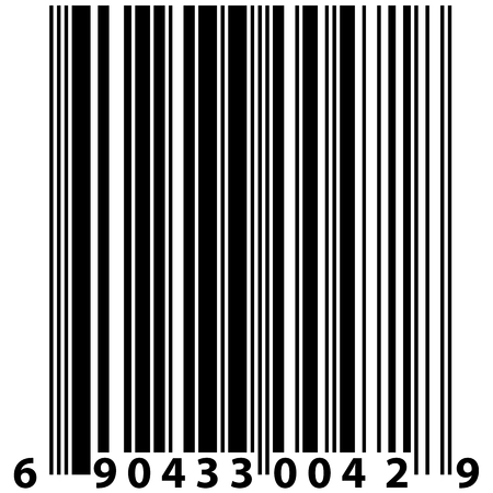 stripped: A vector barcode label - black and white element for design