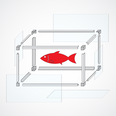 assemblage: The vector scheme for building an aquarium for fishes