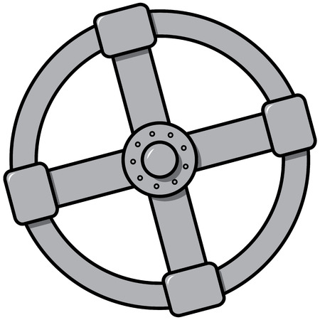 valves: A simple vector image of the gas valve